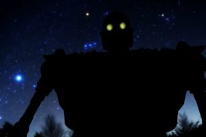 The Iron Giant, Glowing eyes