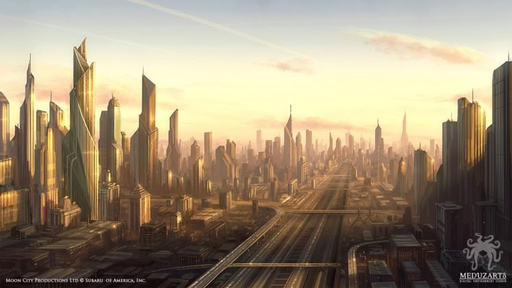 city, Futuristic HD Wallpaper Desktop Background