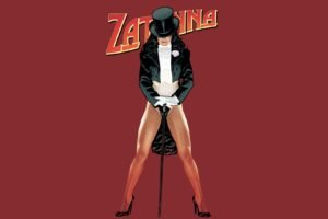 Zatanna, Adam Hughes, Red background