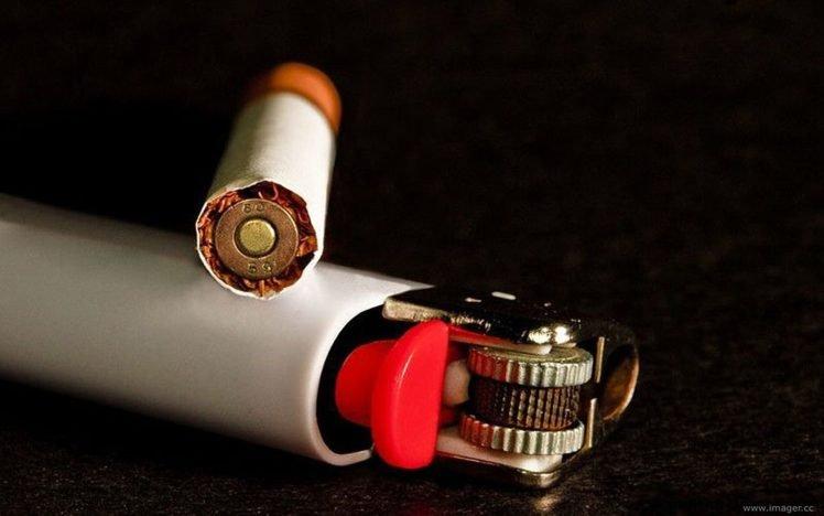 Ammunition Death Cigarettes HD Wallpaper Desktop Background