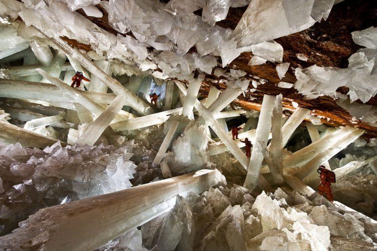 Mexico, Cave, Cueva de los Cristales HD Wallpaper Desktop Background