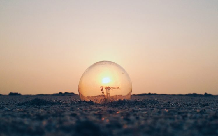 Abduzeedo, Light bulb, Ground, Sun HD Wallpaper Desktop Background