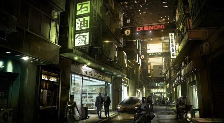 Deus Ex, Concept art, Signs, City, Futuristic, Street HD Wallpaper Desktop Background