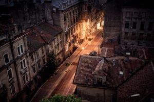 Croatia, Street, Building, Street light