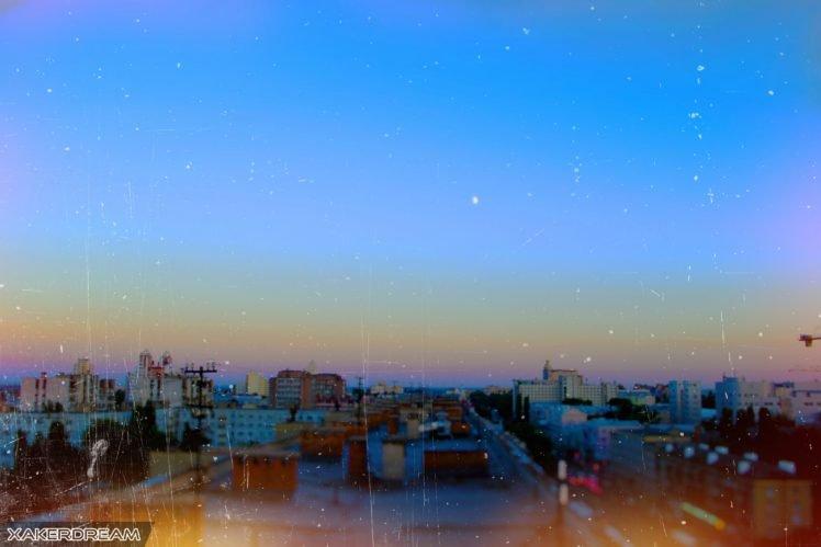 city, Architecture, Horizon, Sunrise HD Wallpaper Desktop Background