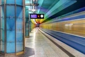 subway, Clocks, Munich
