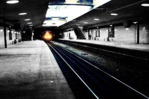 lights, Subway, Monochrome