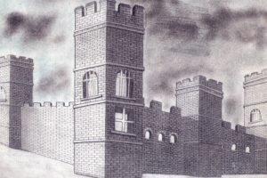 castle, Drawing, Pencils