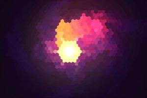 purple, Hexagon