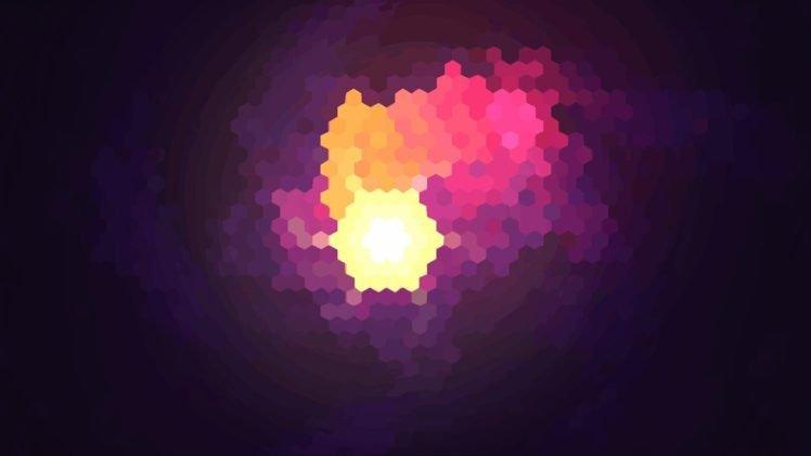 purple, Hexagon HD Wallpaper Desktop Background