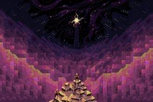 purple, Pixelated, Isometric