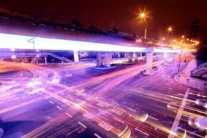 cityscape, Long exposure, Interchange, Intersections, Light trails