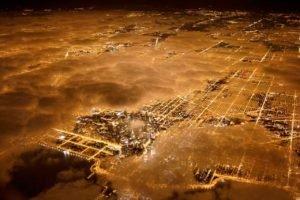 night, Stars, City, Cityscape