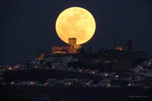 moon, Cityscape, Night