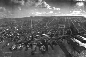 San Francisco, Waterfront, Earthquakes, 1906 earthquake, Aerial view, Ruin