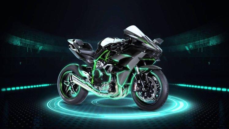 Kawasaki Ninja H2R HD Wallpaper Desktop Background