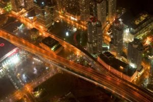 cityscape, Road, Highway, Aerial view