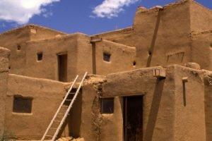 house, Ladders, Mud