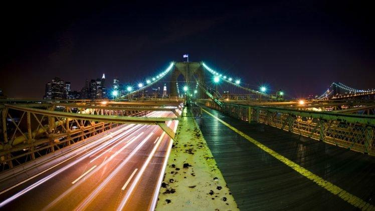 cityscape, Building, Long exposure, Bridge, Light trails HD Wallpaper Desktop Background