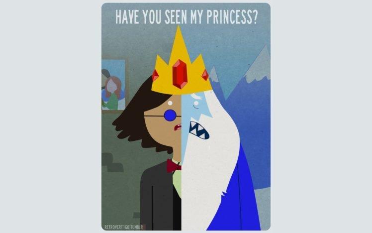 Adventure Time Simon Ice King Crowns HD Wallpaper Desktop Background