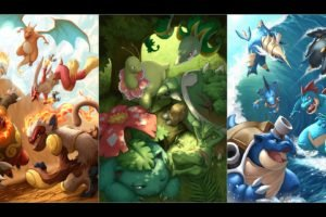 Pokemon, Charizard, Blaziken, Typhlosion, Infernape, Emboar, Serperior, Sceptile, Meganium, Torterra, Venusaur, Blastoise, Feraligatr, Swampert, Empoleon, Samurott