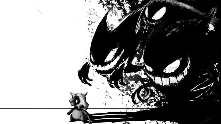 Pokemon, Cubone, Ghastly, Haunter, Gengar HD Wallpaper Desktop Background