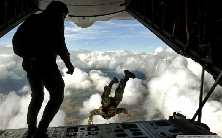 war, Skydiving HD Wallpaper Desktop Background