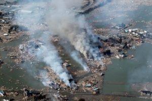 Japan, Earthquakes, Smoke, Tsunami