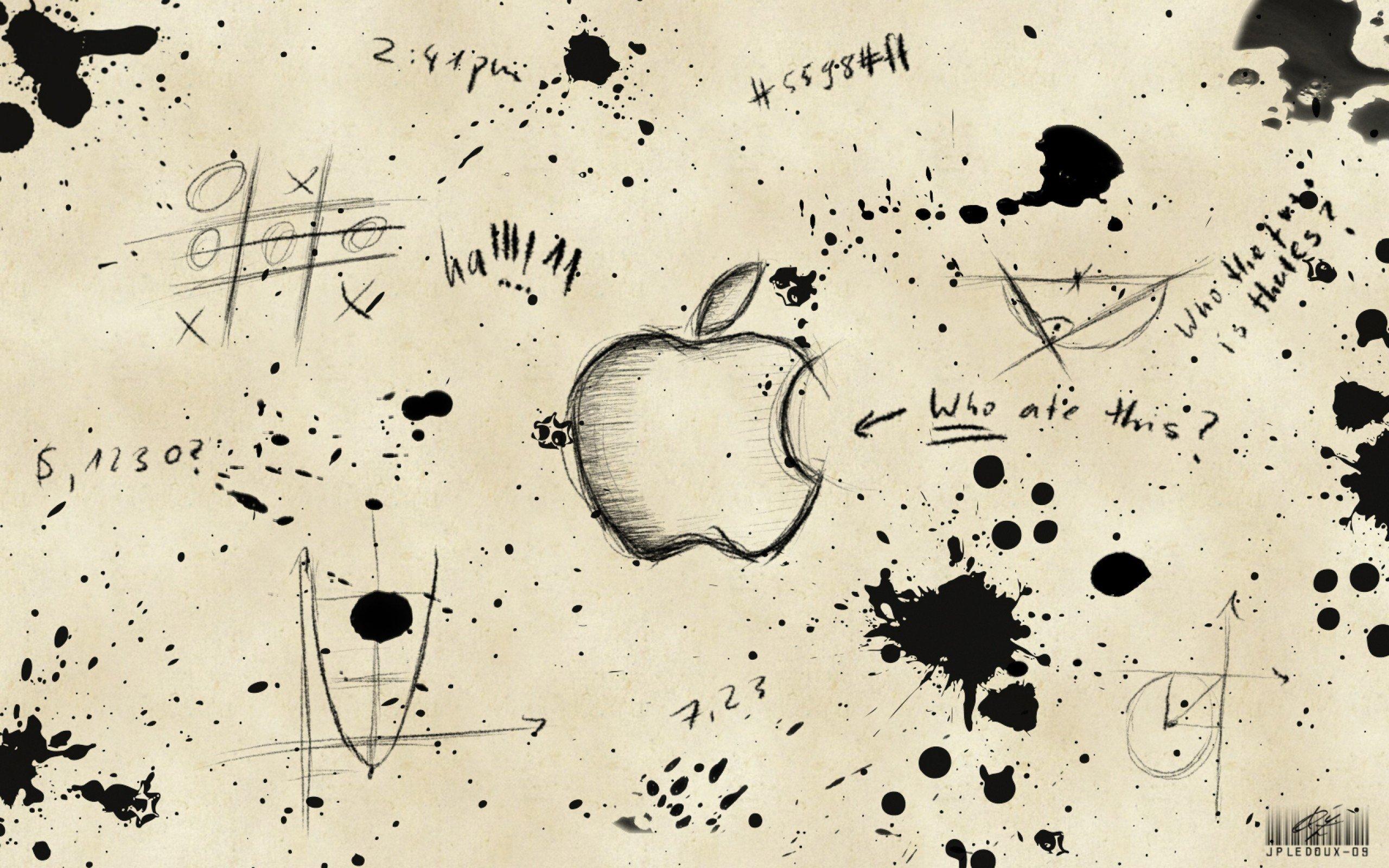 Apple Inc., Monochrome, Graffiti, Paint splatter HD ...