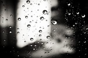 water drops, Monochrome, Water on glass