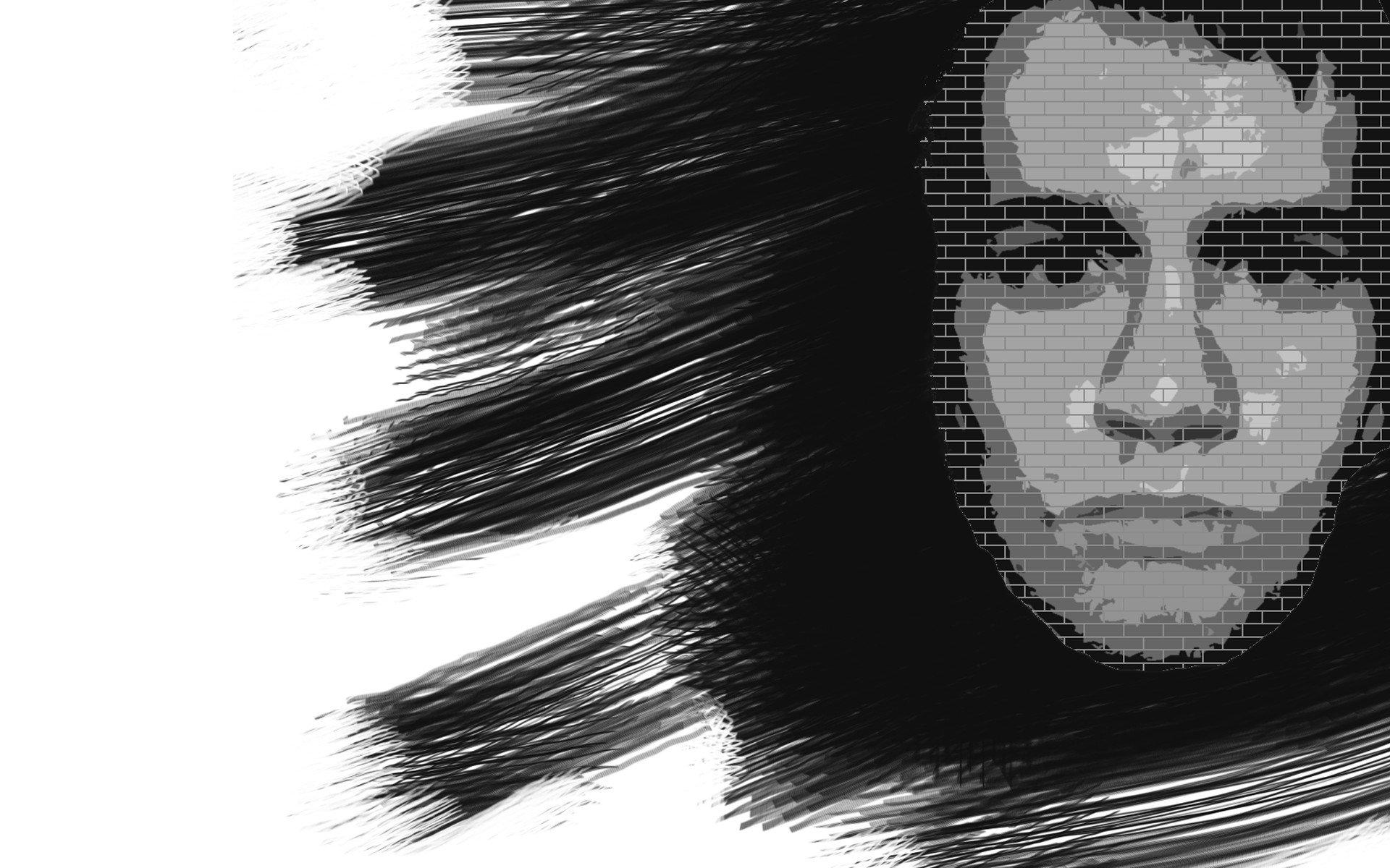 face, Monochrome Wallpaper