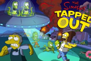 The Simpsons, Tapped Out, Aliens, Lisa Simpson, Moe Szyslak, Kang and Kodos