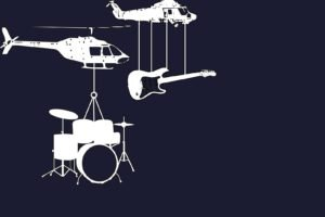 helicopters, Music, Guitar, Drums