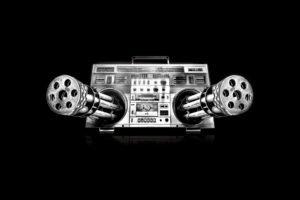 music, Machine gun