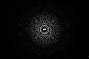 minimalism, Circle, Black