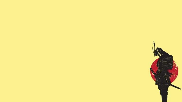 minimalism, Samurai, Warrior HD Wallpaper Desktop Background