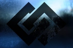 minimalism, Logo, Water drops