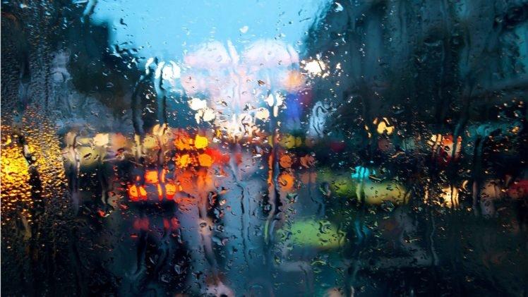 Rain City Bokeh HD Wallpaper Desktop Background