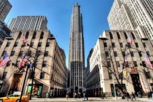 cityscape, New York City, USA, 30 Rockefeller Plaza, GE Building