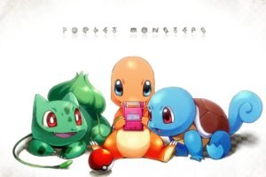 Pokemon, Squirtle, Bulbasaur, Charmander