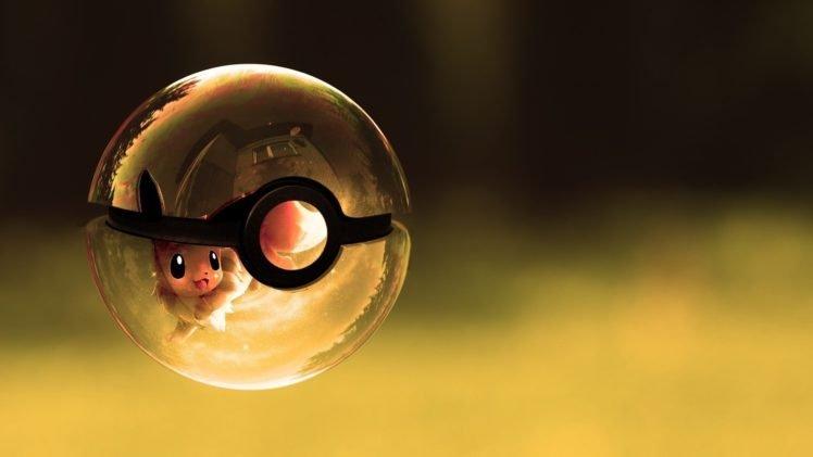 Pokemon, Eevee, Pokéballs HD Wallpaper Desktop Background