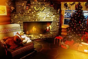 lights, Fireplace
