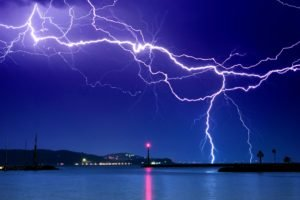 lightning, Photography, Long exposure, Night, Lighthouse