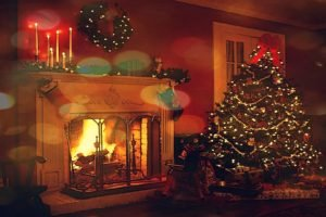 atmosphere, Lights, Fireplace, Decorations