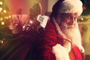 Santa Claus, Lights, Toys