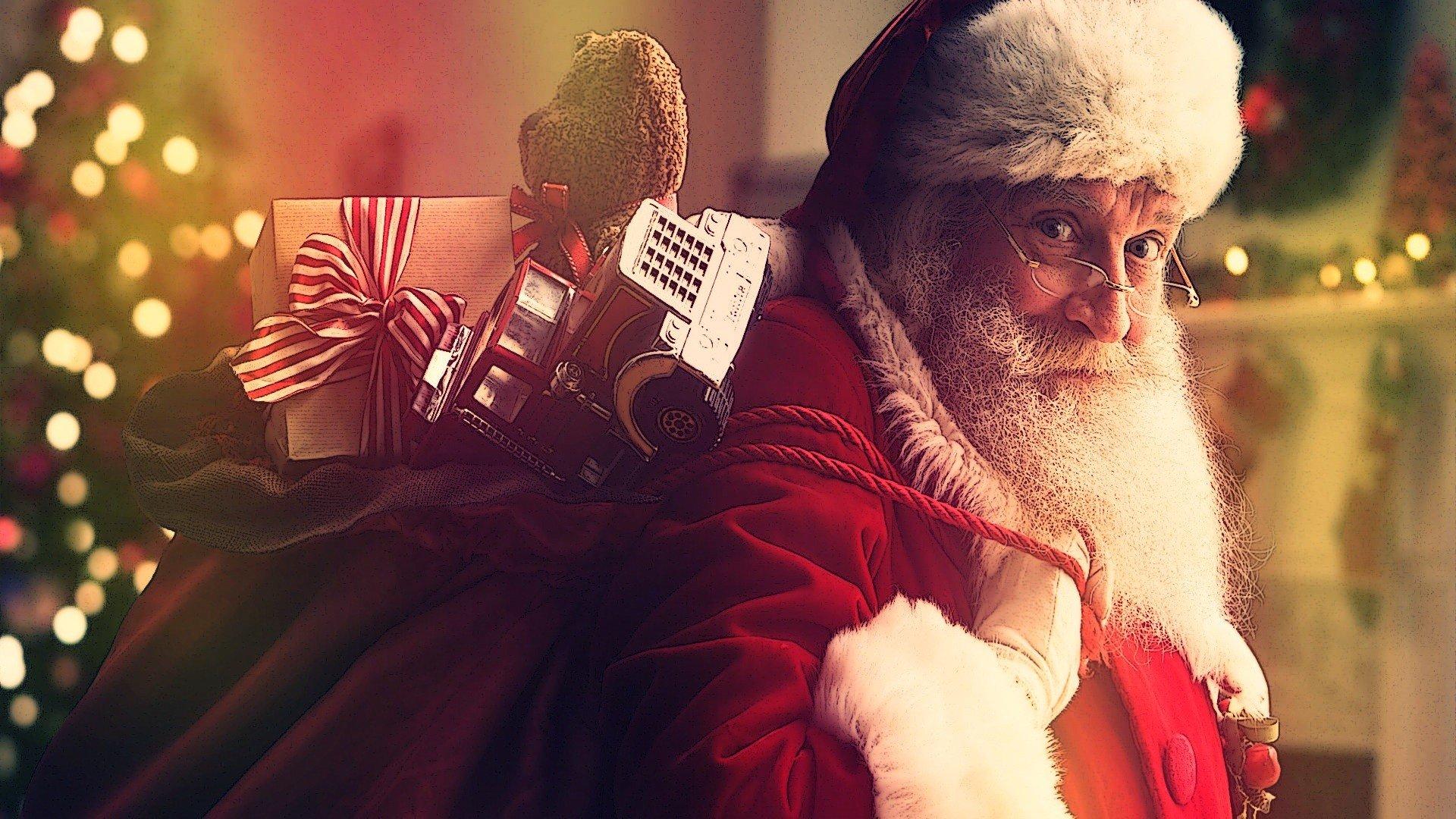 Santa claus lights toys hd wallpapers desktop and