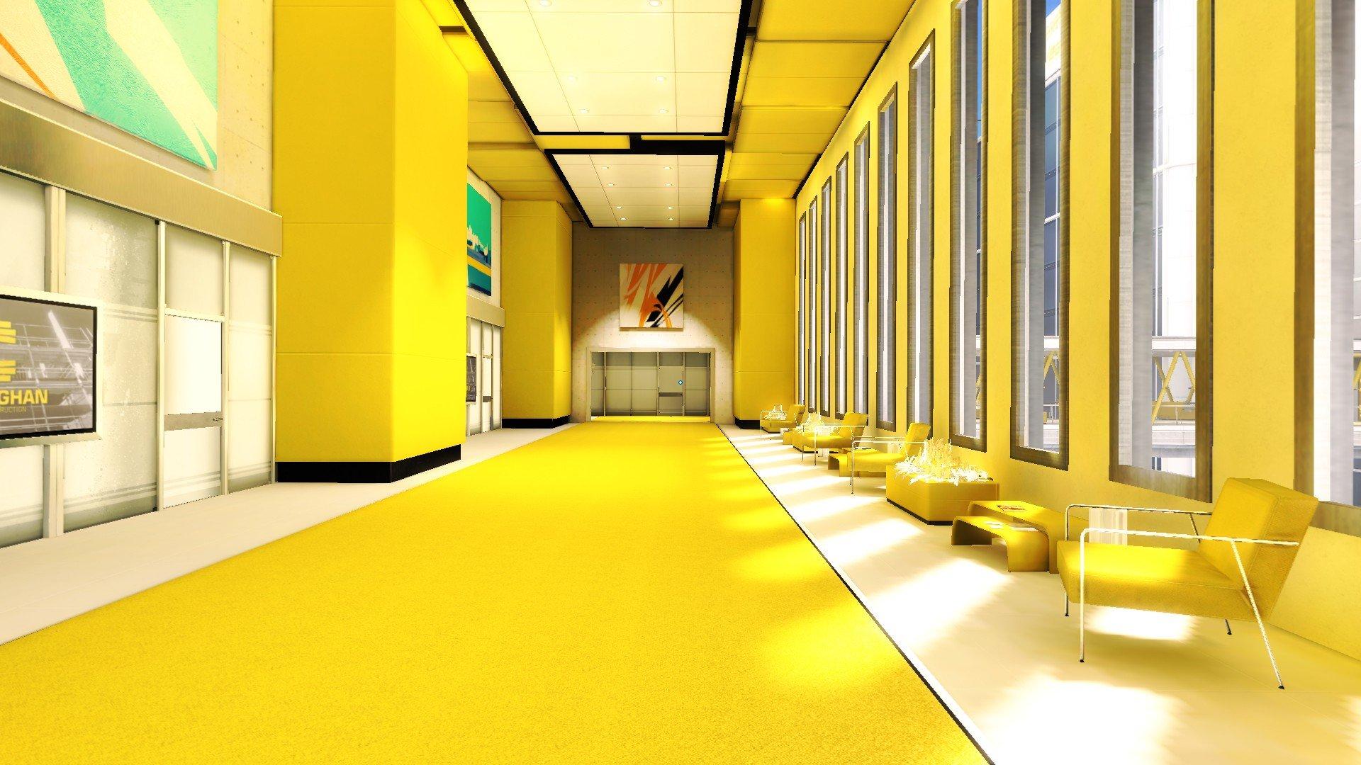 Interior design yellow mirrors edge screenshots hd - Wallpaper interior design pictures ...
