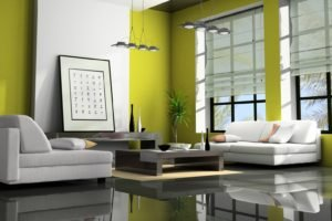 interior design, Couch, Window, Reflection, Picture frames
