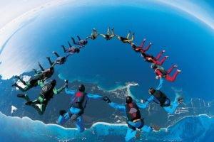 sky diving, Parachutes