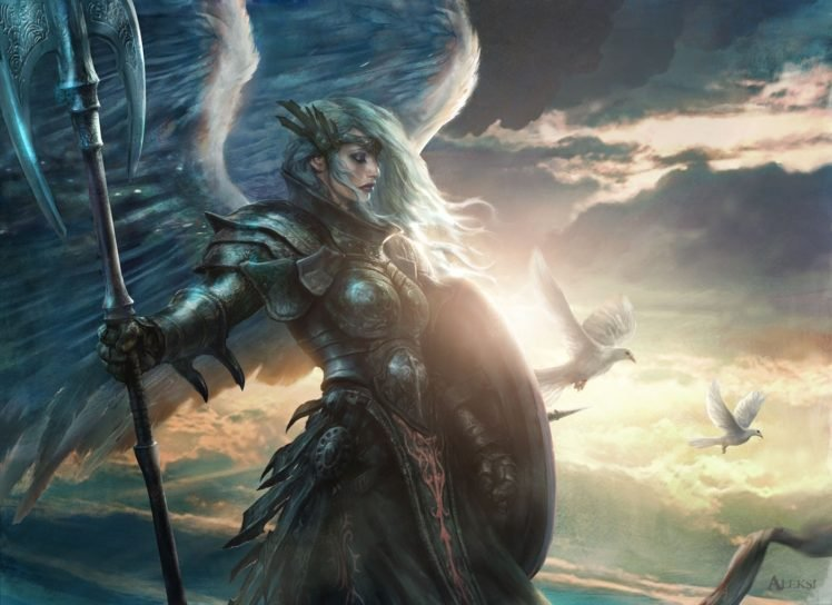 Magic The Gathering Angel Hd Wallpapers Desktop And Mobile